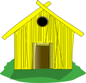 Birdhouse clipart. Straw house