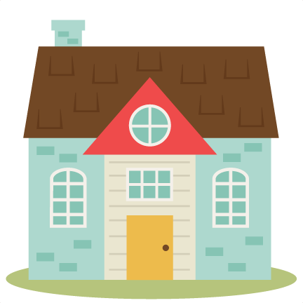 House clipart. Cute set svg cutting