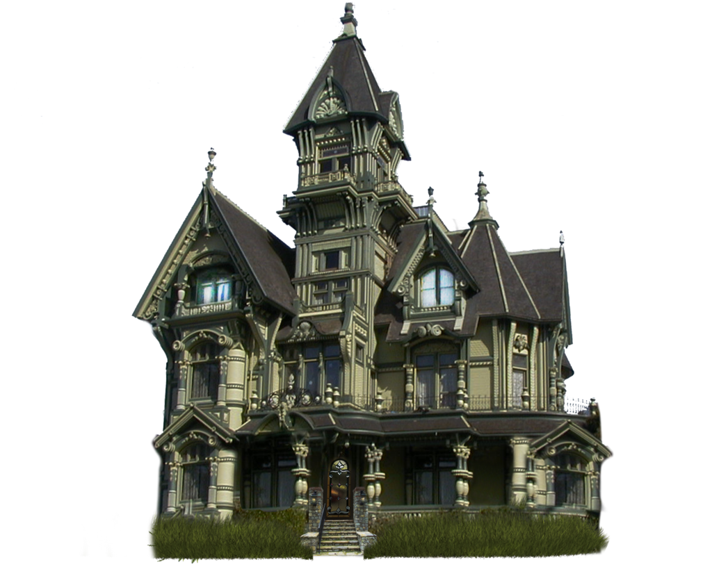 Haunted mansion png. Halloween house image transparent