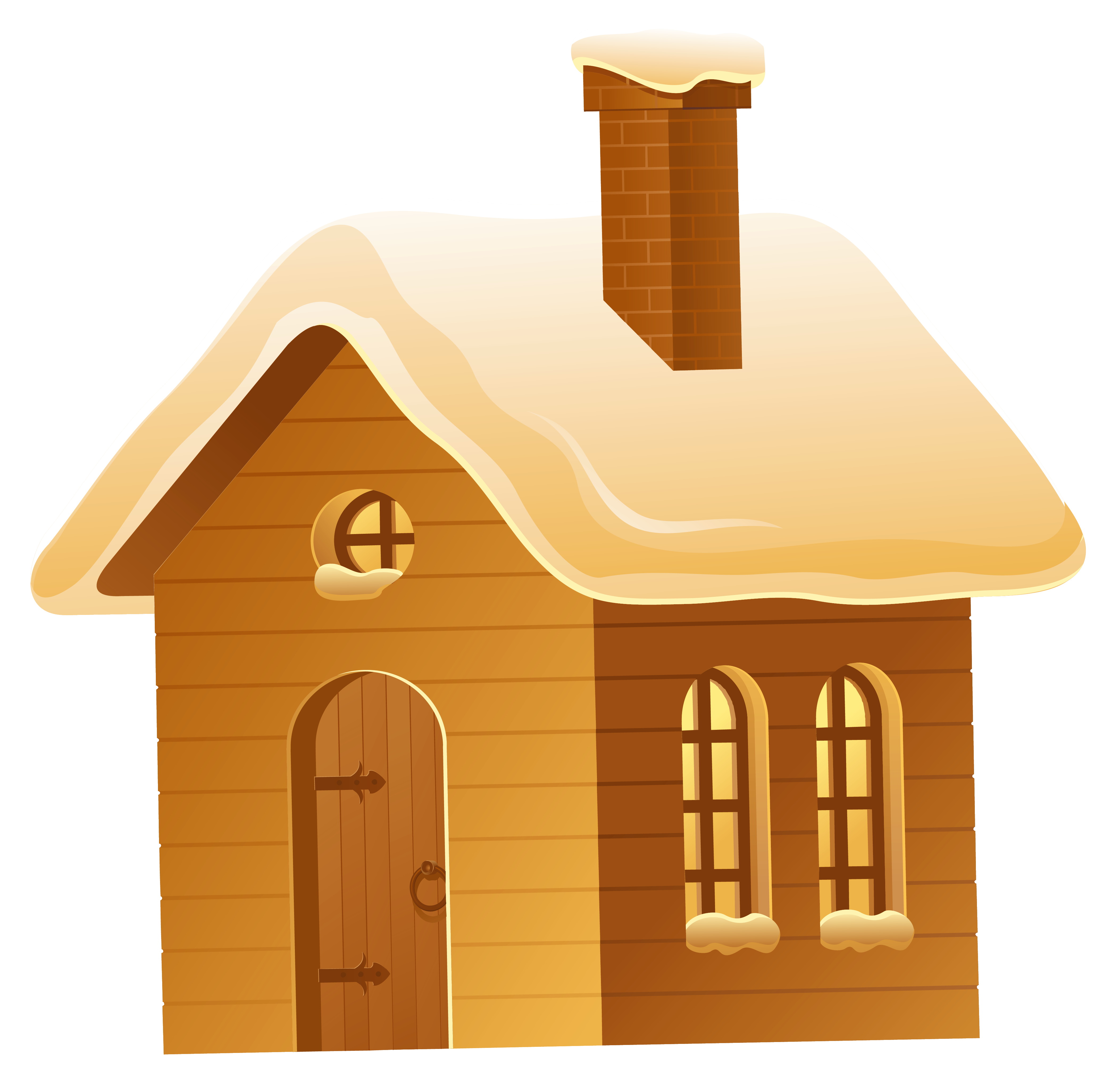 Brown house png picture. Cottage clipart winter picture library download