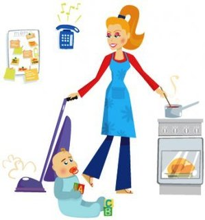 House wife. Housewife clipart station