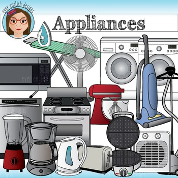 Household Appliances. Home and electric clip