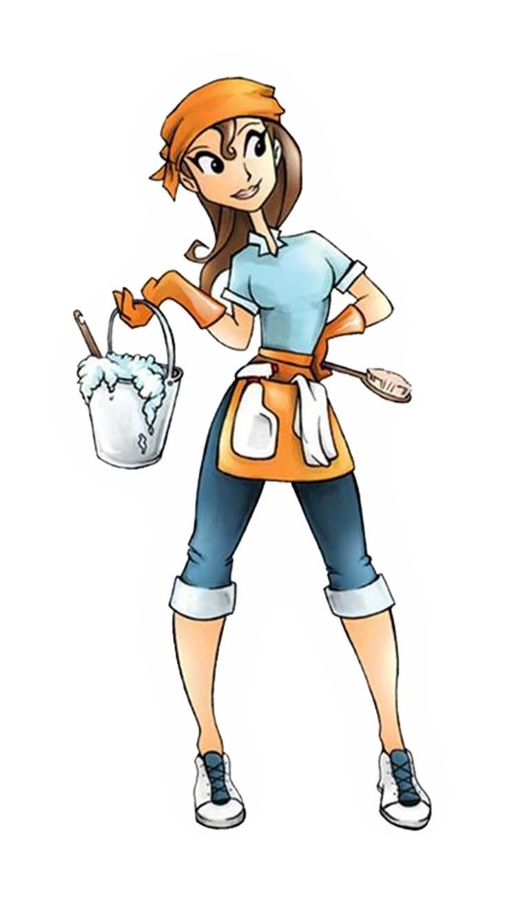Cleaner clipart. Woman cleaning house clip