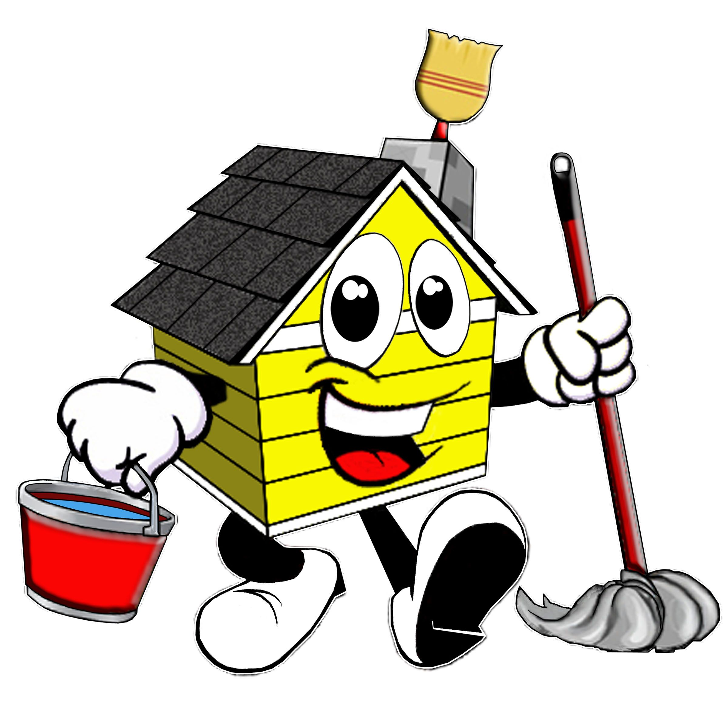 Service clipart household service. House cleaning professional cartoon