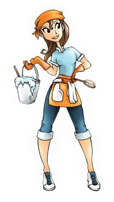 Housekeeping clipart person. Cleaning lady pictures