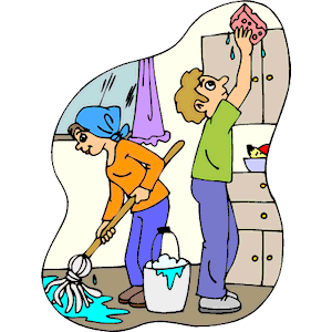 Clean clipart. House cleaning christmas pictures
