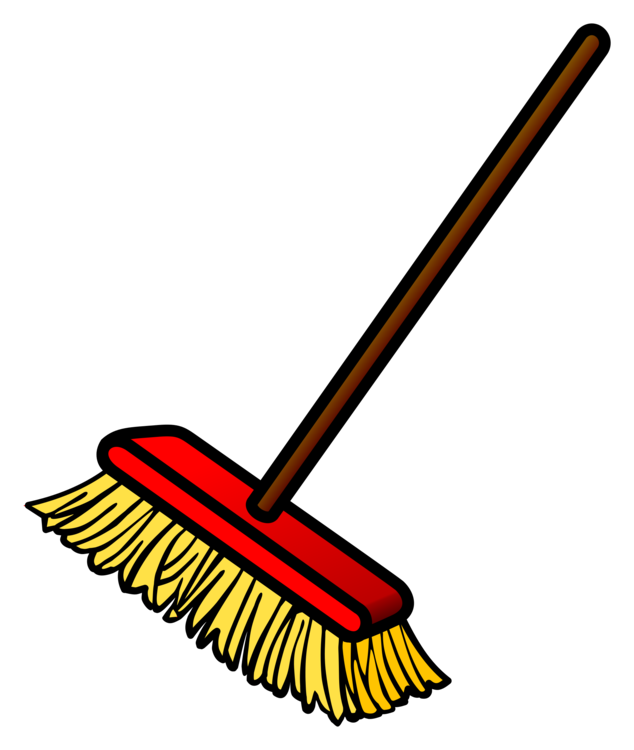 Broom clipart cleaning room. Witch s mop dustpan