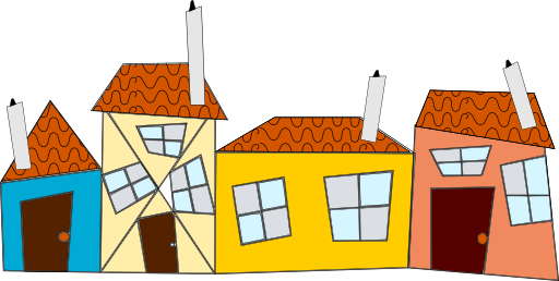Houses clipart. Crazy i royalty free