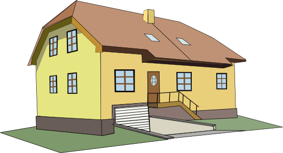 Free clip art houses. Cottage clipart kid image freeuse