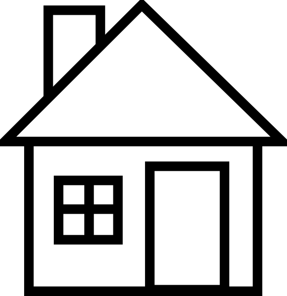 Houses clipart black and white. Free house