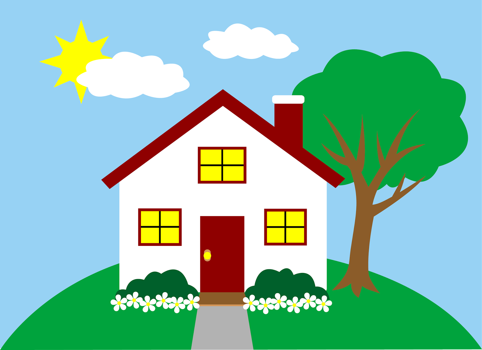 Houses clipart cow. House clip art clipartcow