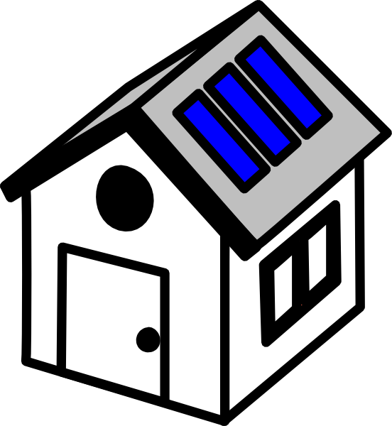 Solar panel clipart solar power. D house panels