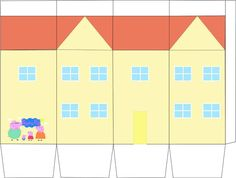 Houses clipart peppa pig. Party ideas diy for