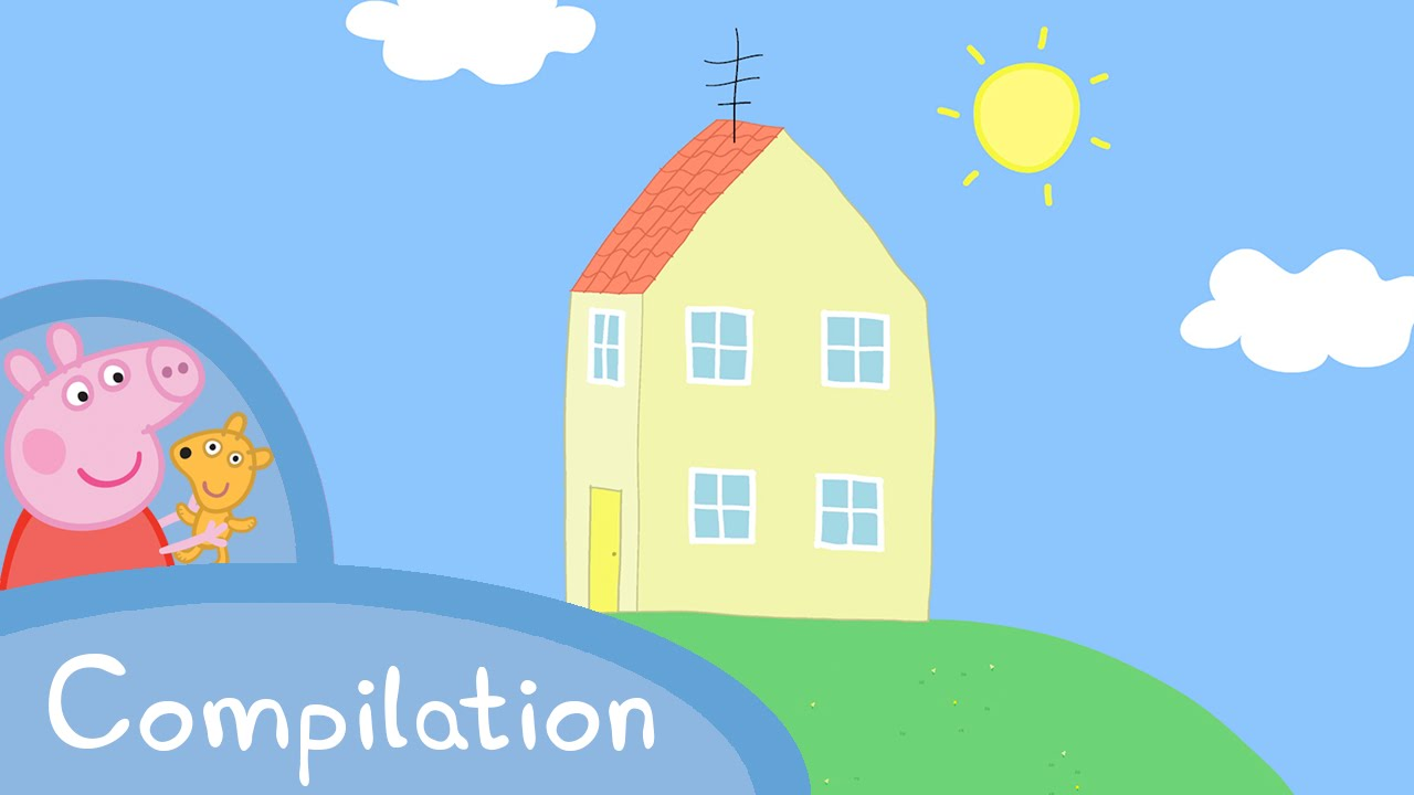 Houses clipart peppa pig. Episodes s house compilation