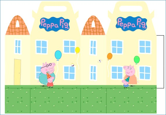 Houses clipart peppa pig. Drawing templates fidelitypoint org