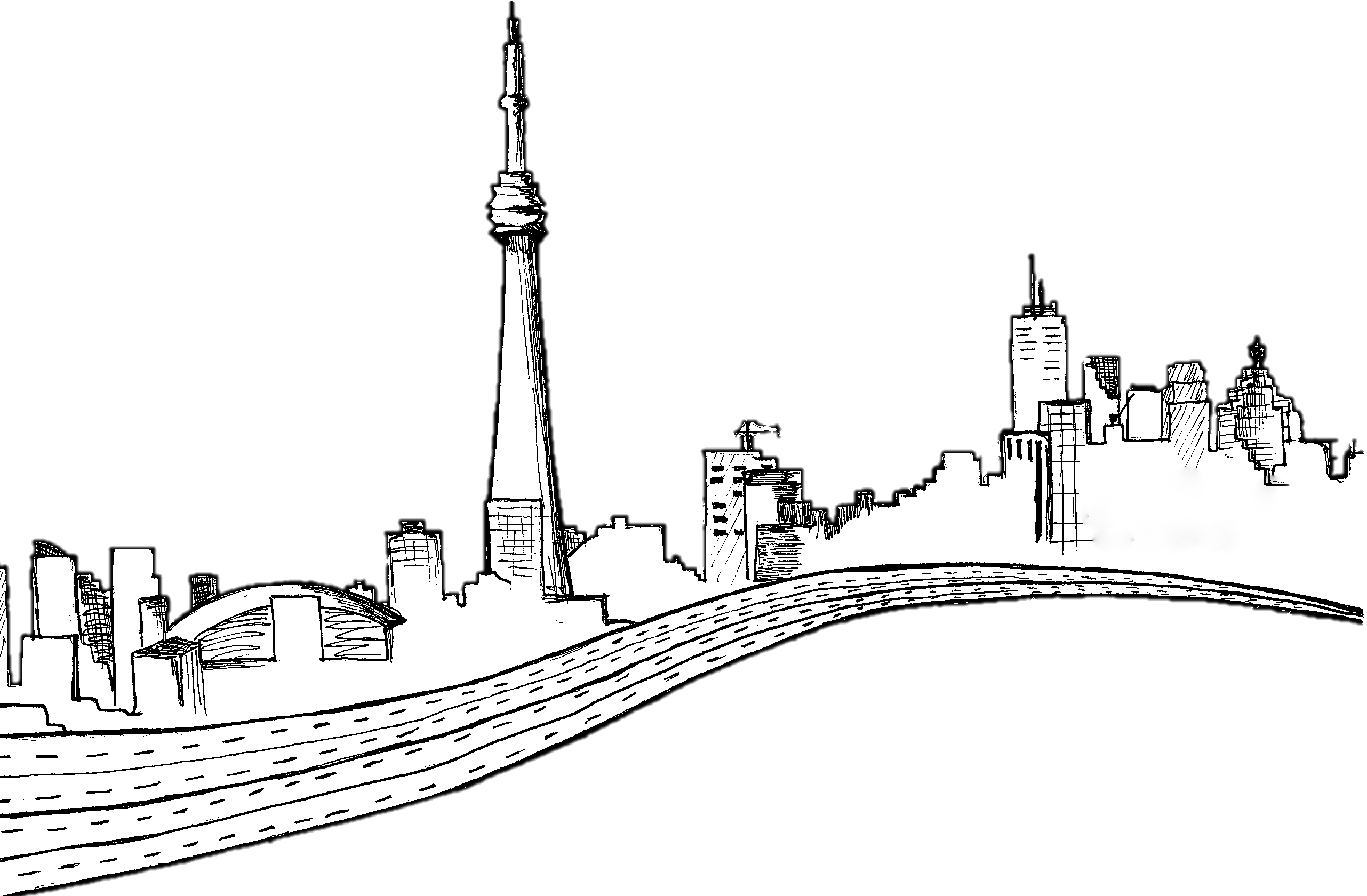Prespective drawing skyline. City at getdrawings com