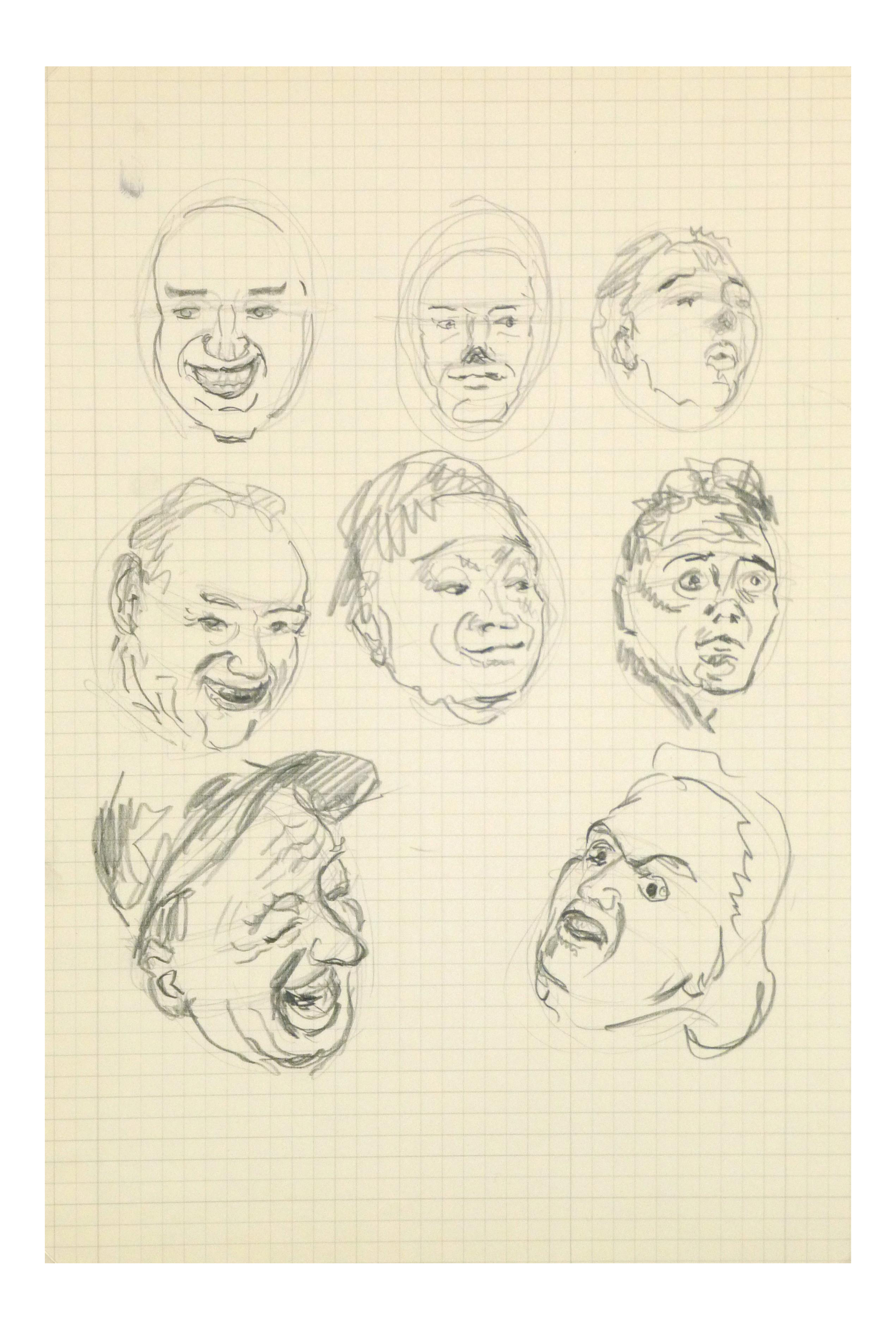 Houston drawing sketch. Of faces c chairish