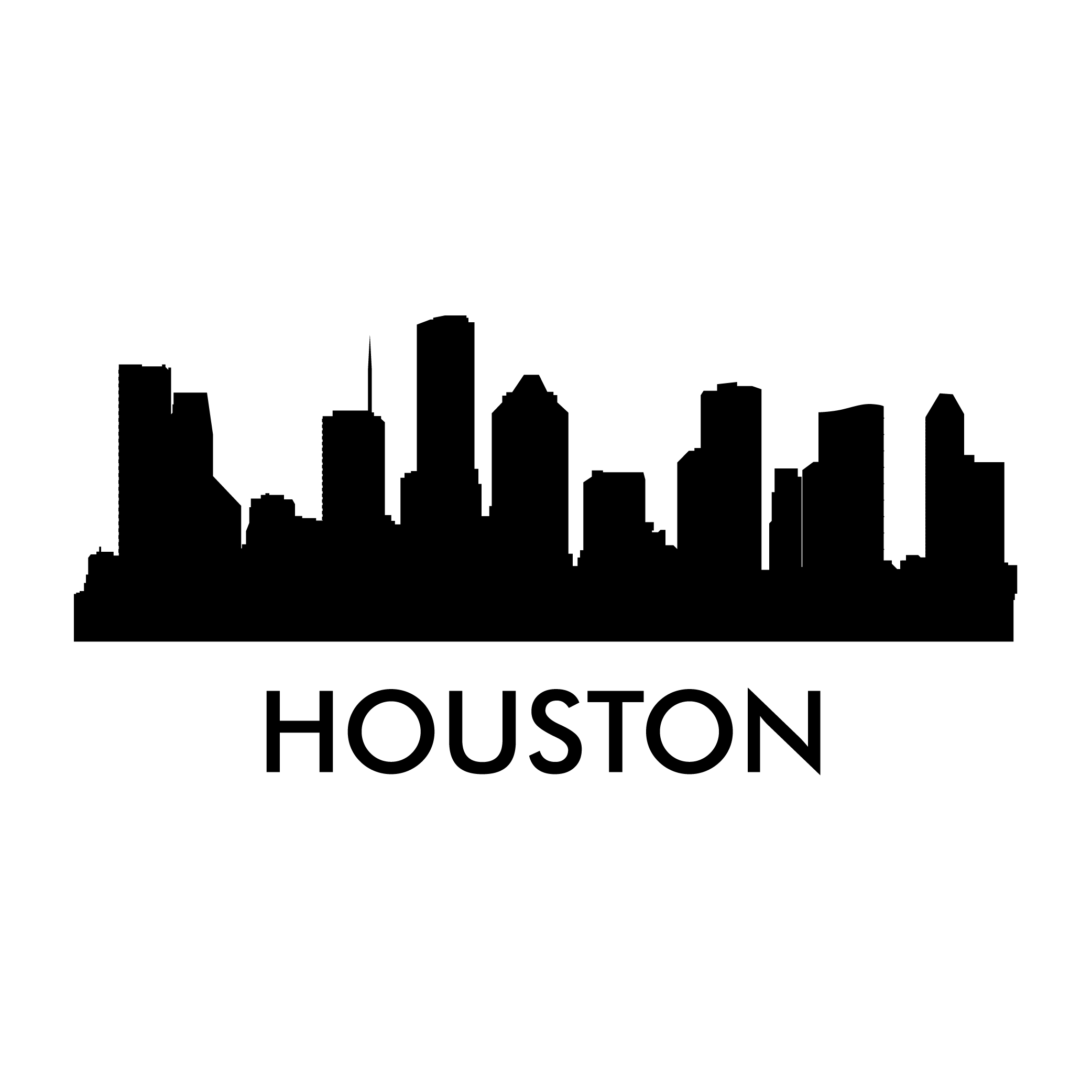 Houston skyline outline png. Decal photomal com