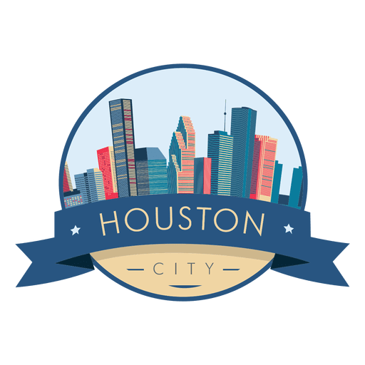 Vector houston. Skyline badge transparent png