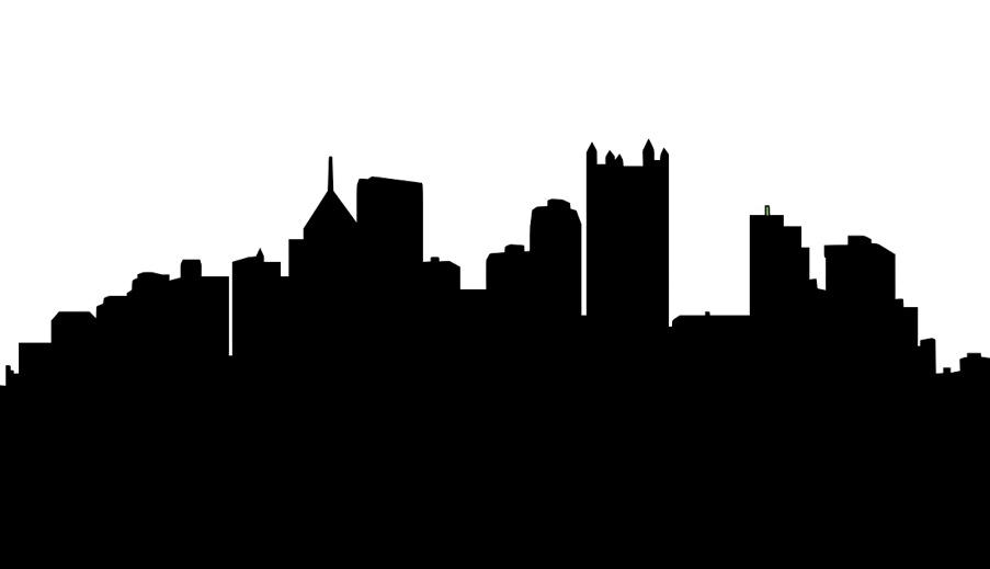 Houston vector outline. Cleveland skyline silhouette at