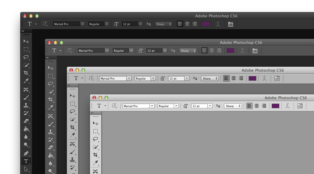 How do i change the color of a png in photoshop. All new dark interface