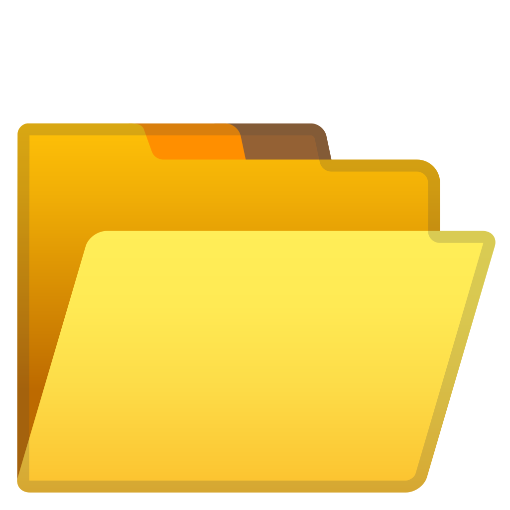 How do i open a png file?. File folder icon noto