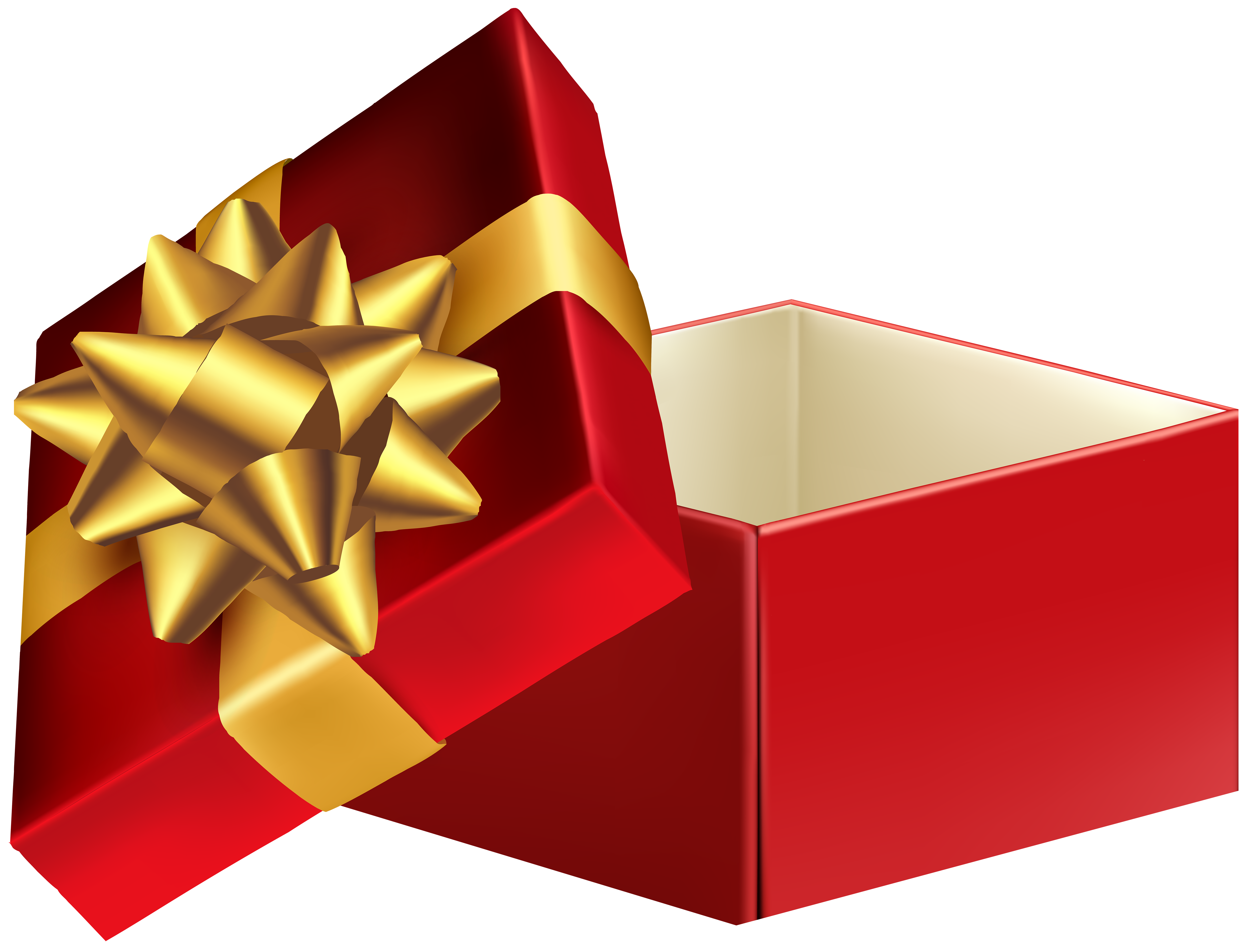 Open christmas present png. Gift box transparent clip