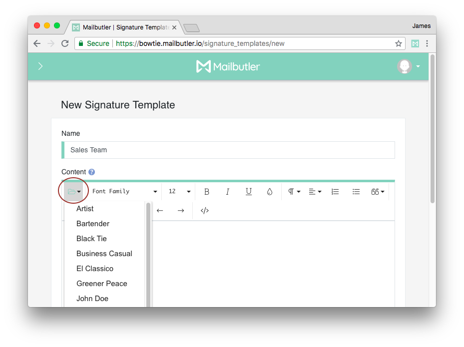 How to add png to gmail signature. Create a custom template