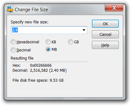 How to change the size of a png. Hexeditorneo binary file kb