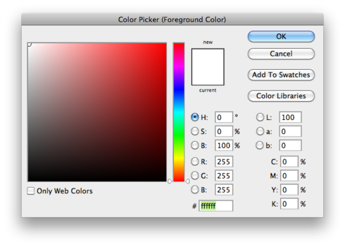 How to change color of a png in photoshop. Automatically select hex value