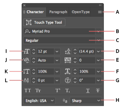 How to change color of png in illustrator. Format type character panel