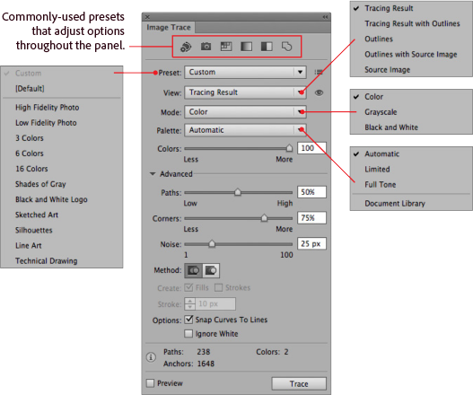 How to change png color in illustrator. Image trace a tutorial