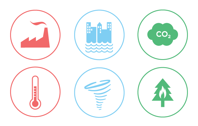 Change vector. Free climate icons for