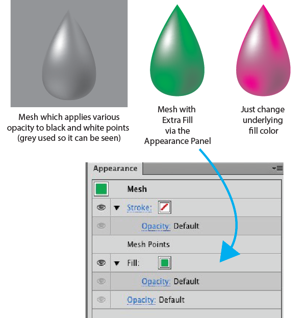 How to change the color of a png image in illustrator. Adobe mesh mask for
