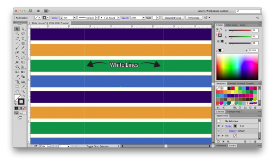 How to change the color of a png in illustrator. Fixing lines patterns blog