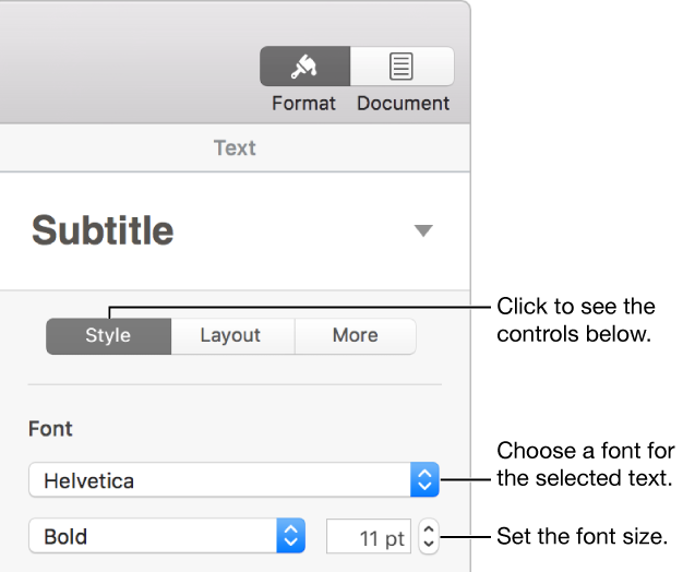 How to change the size of a png. Pages for mac font