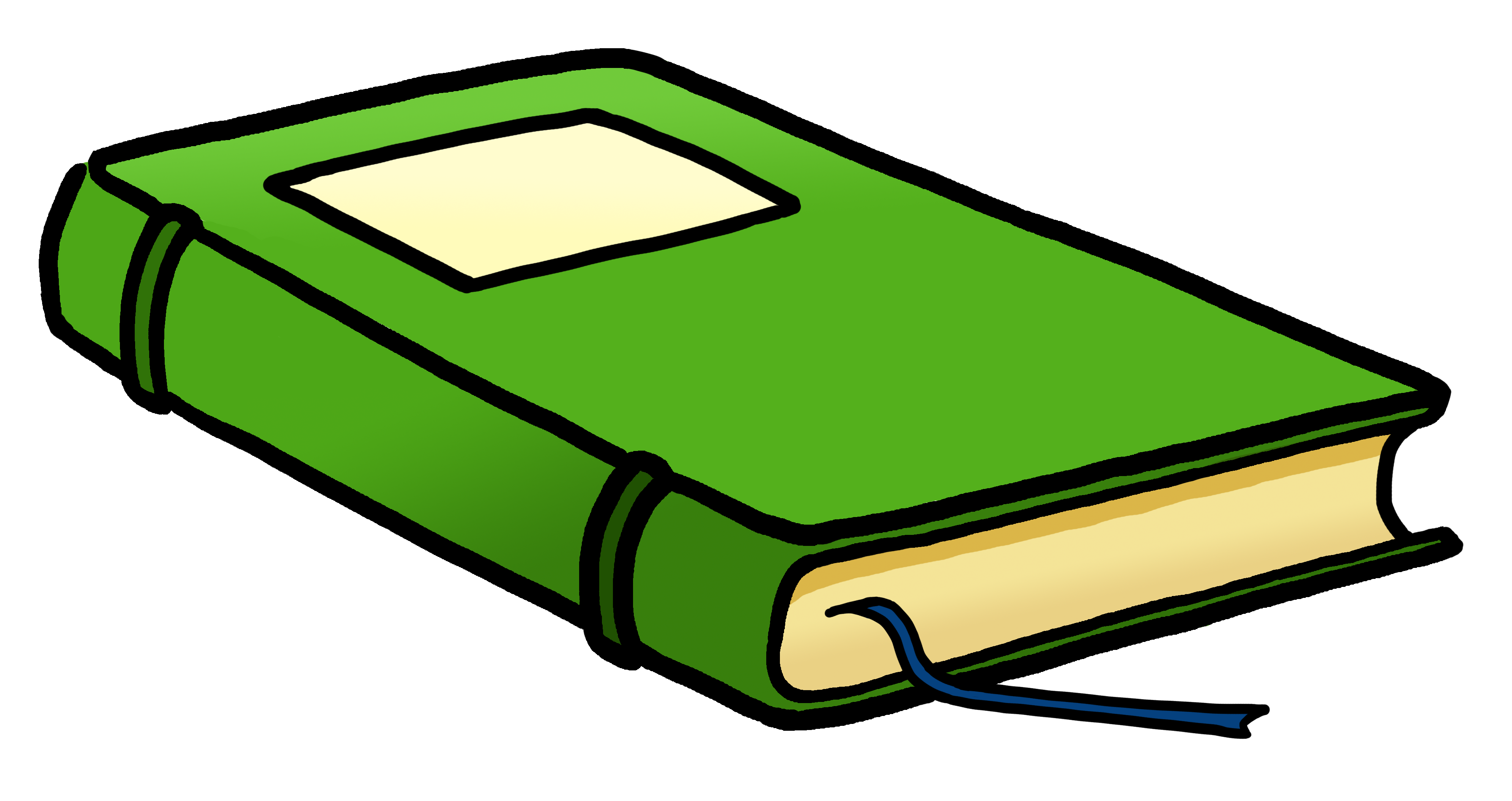 textbook clipart green