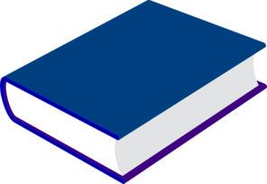 How to clipart book. Blue clip art at