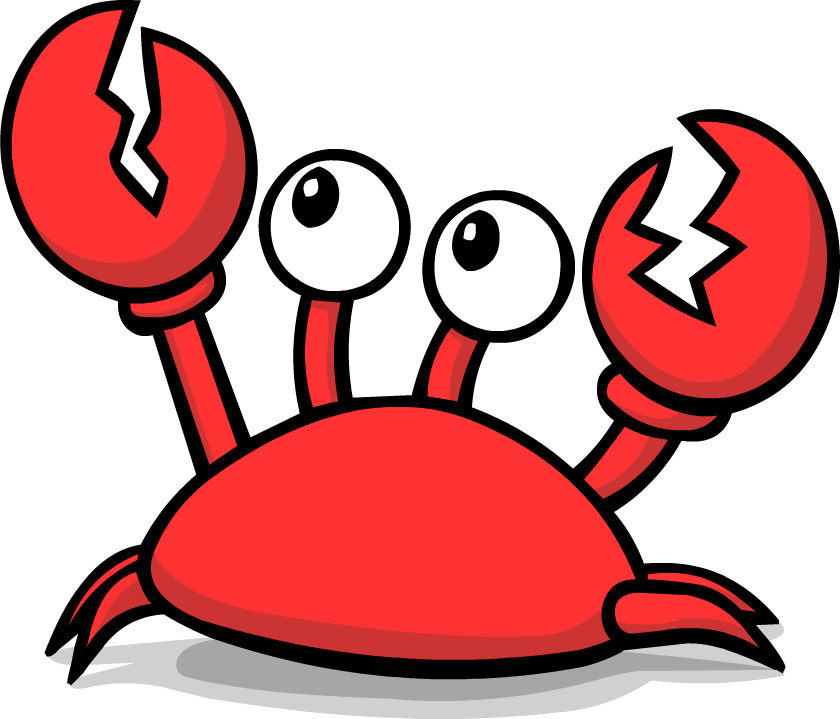 How to clipart crab clipart. Angry clip art full