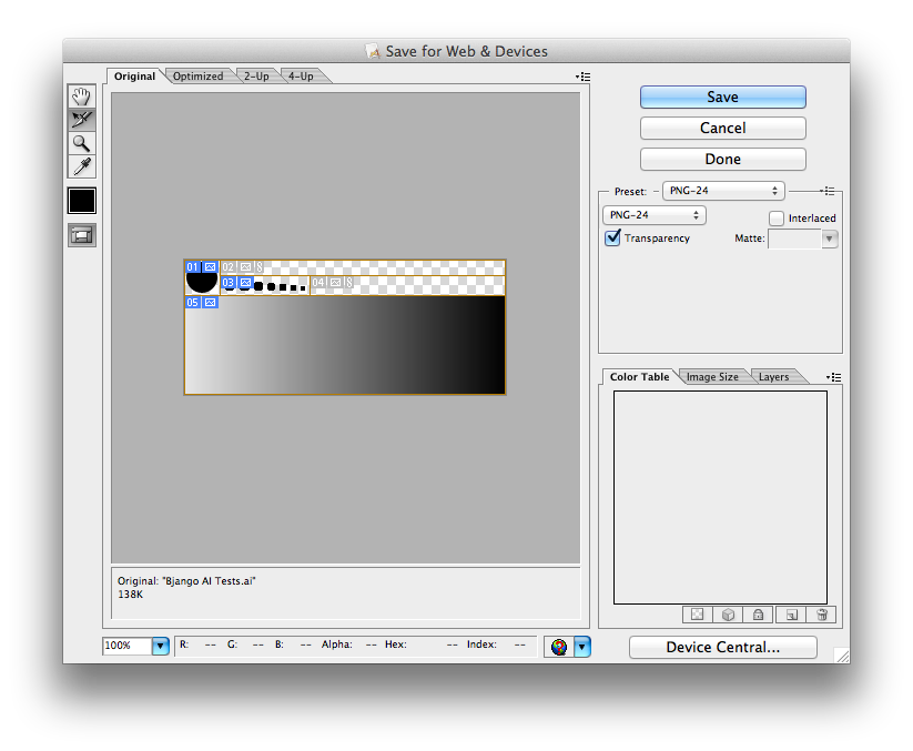 How to color a png file in illustrator. Icon when you export