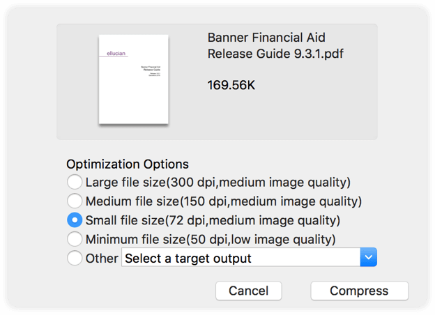 How to shrink a file size png. Compress pdfs or reduce