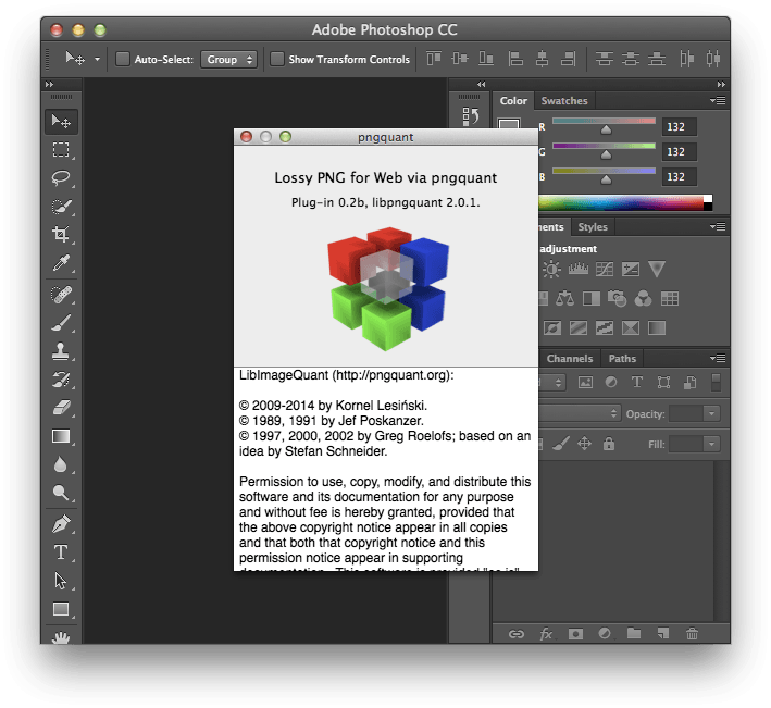 How to compress a png in photoshop. Github kornelski pngquant plug