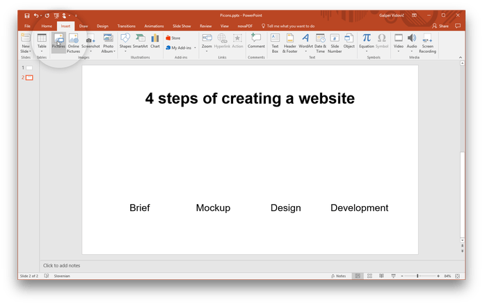 Screenshot powerpoint