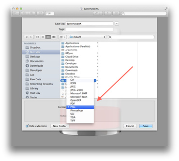 convert png to dst mac