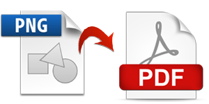 Convert a png to pdf. Save portable network graphics