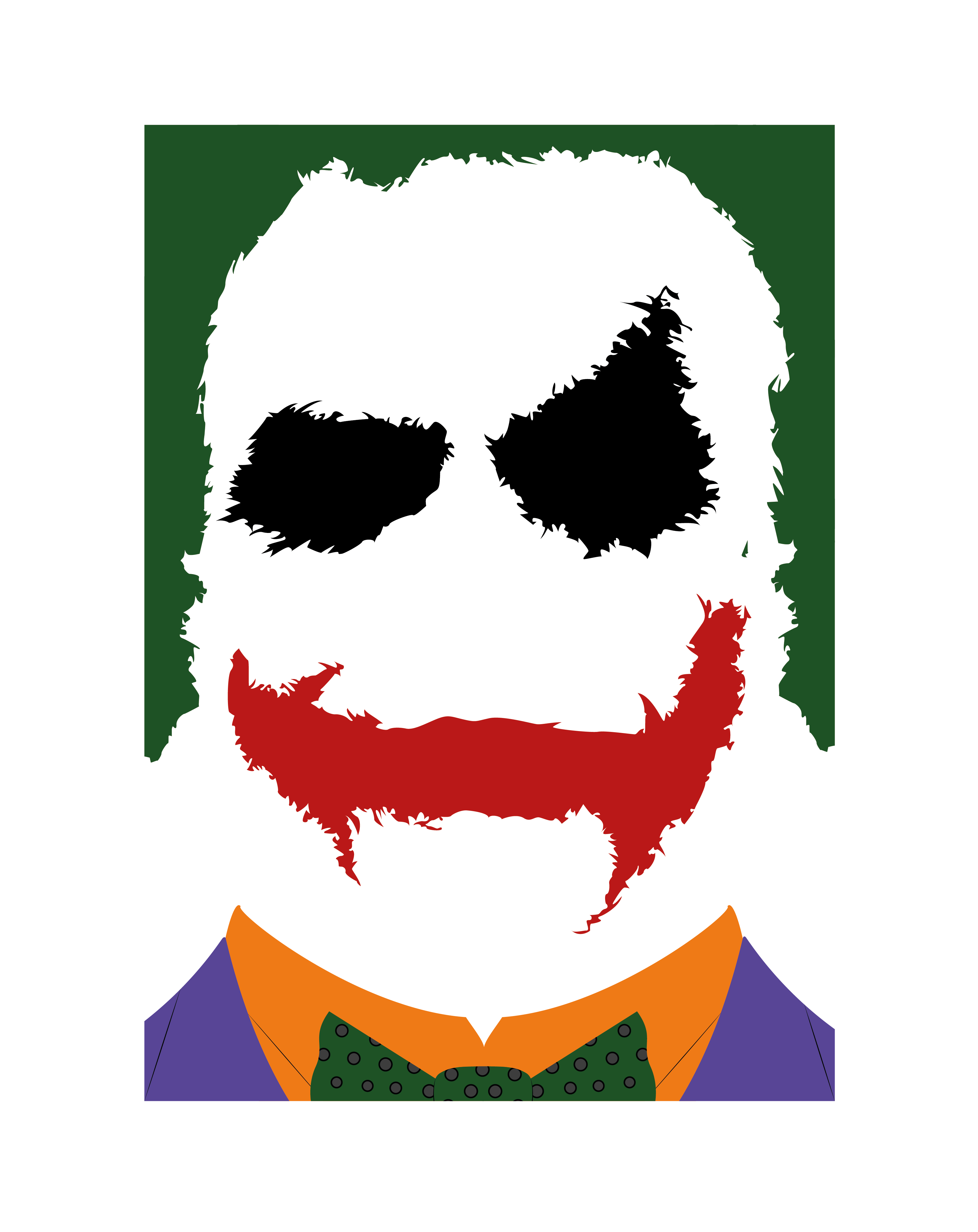 Vector style great gatsby. Joker from batman the