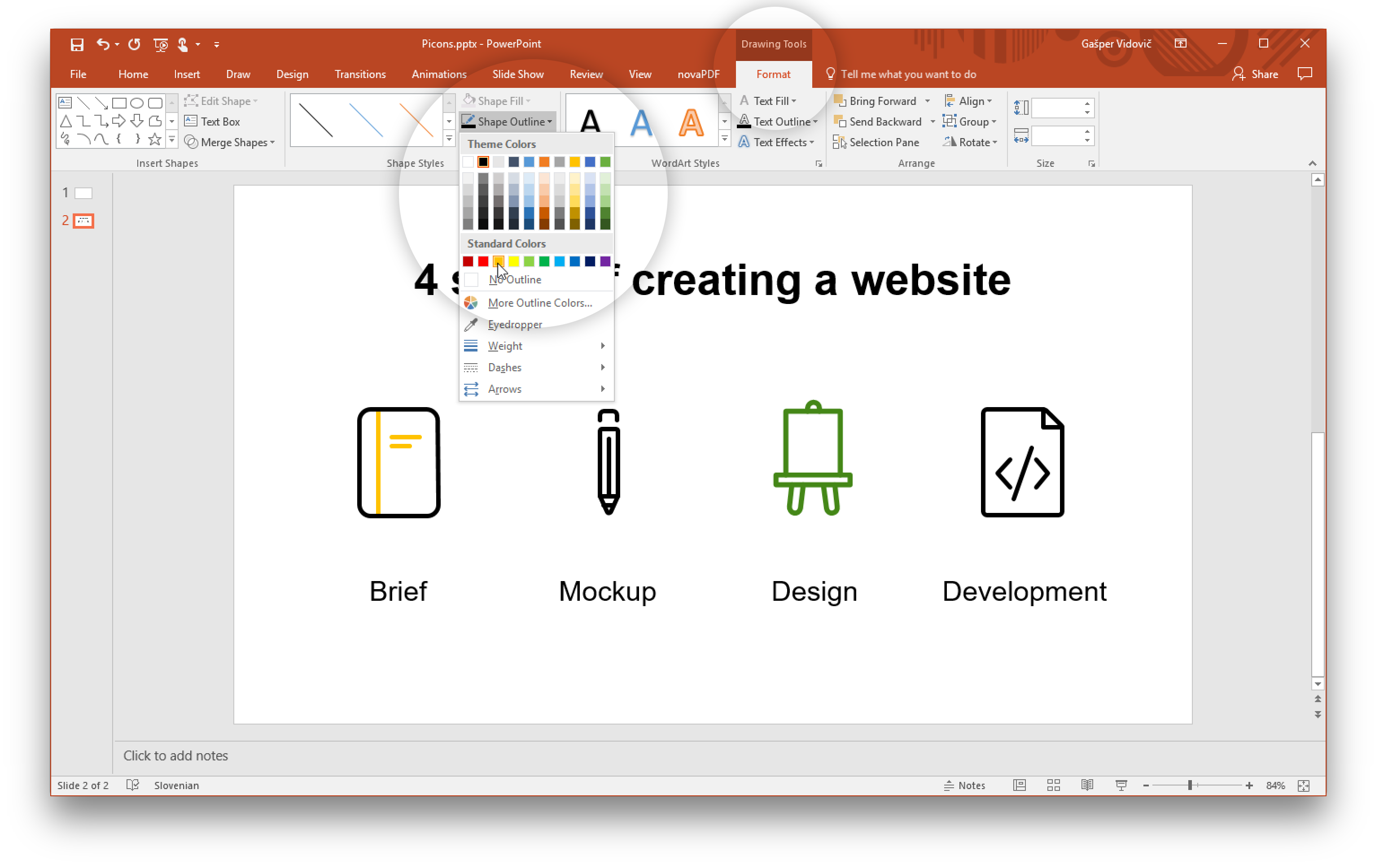 How to create a png file in windows. Using vector icons powerpoint