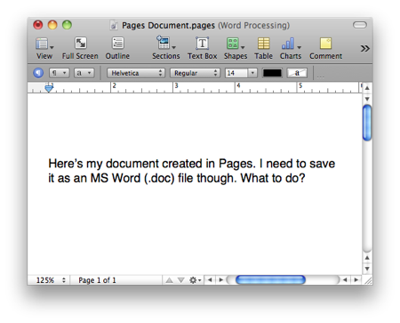How to create a png file in word. Save documents created pages
