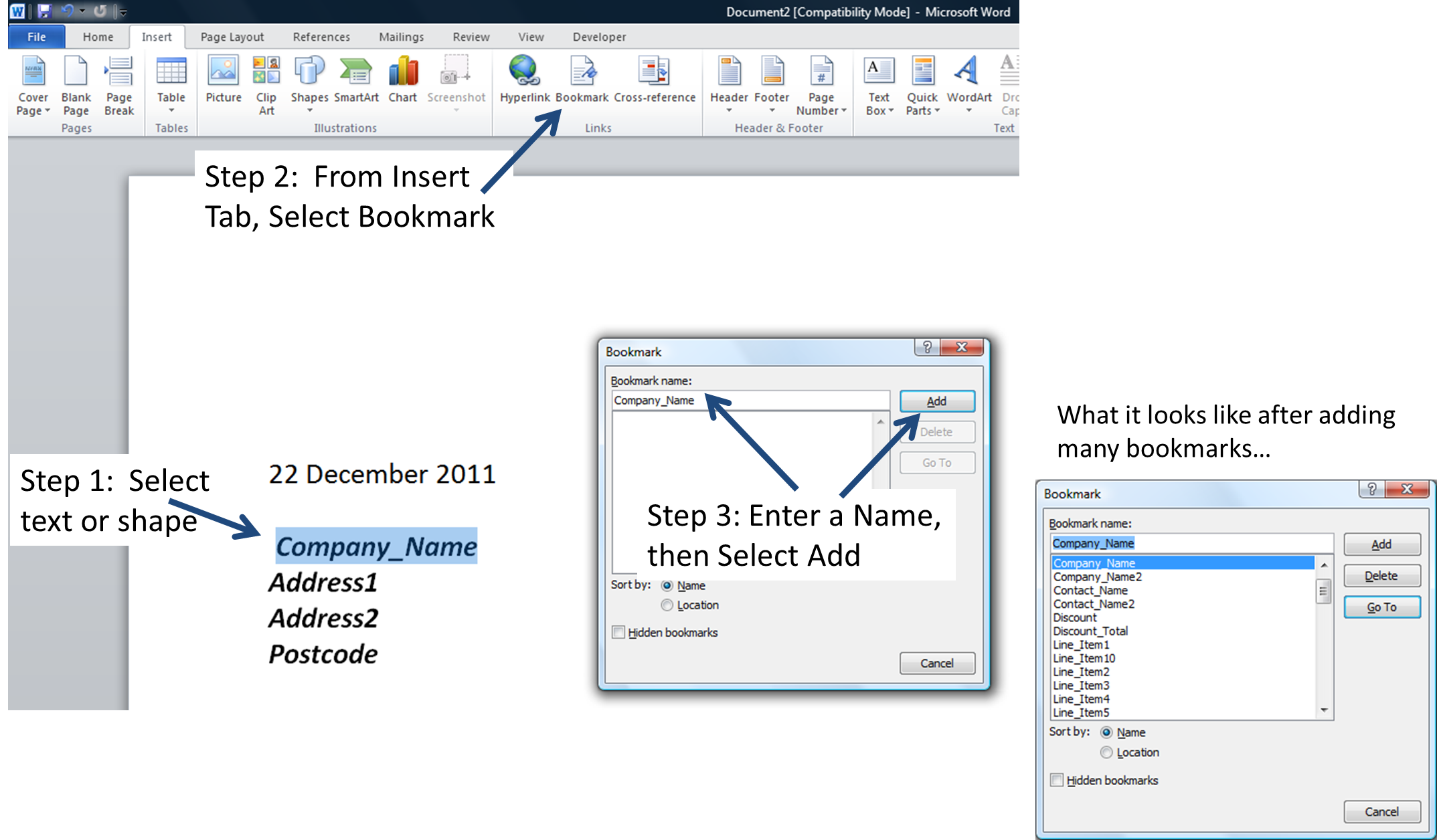How to create a png file in word. Quickly and accurately populate