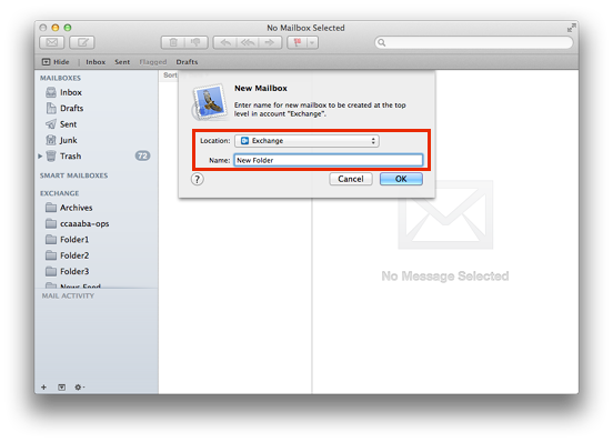 How to create a png image on mac. New folder in mail